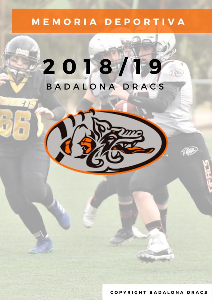 Memoria deportiva 2018-19 Badalona Dracs